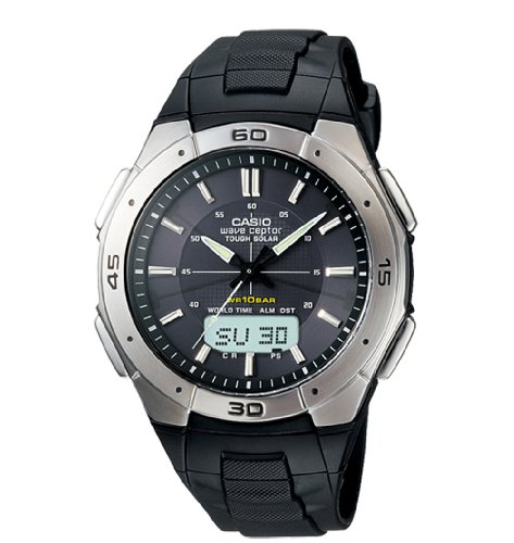 Casio Men's WVA470J-1A Black Resin Quartz Watch with Black Dial