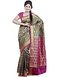 Mimosa Women's Traditional Art Silk Saree Kanjivaram Style, Color :Green(3252-N7-GRN)