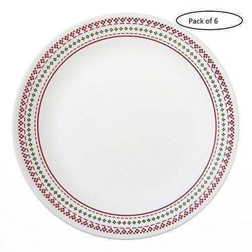 corelle-livingware-holiday-punto-2603-1025-cm-piatto-piano-confezione-da-6-pezzi