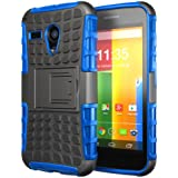 Hyperion Motorola Google Moto G Phone Explorer Hybrid Protective Case/Cover (Compatible with All Moto G Models) **Hyperion Retail Packaging** [2 Year Warranty] (EXPLORER, BLUE)