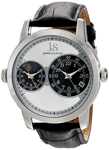Joshua & Sons Reloj Pantalla analógica cuarzo Negro para hombre
