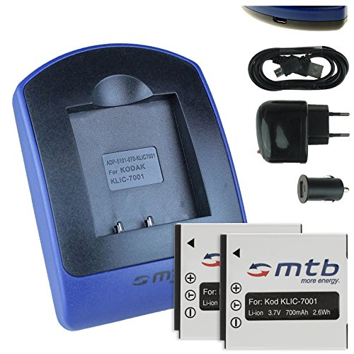 2-batterie-caricabatteria-usb-auto-corrente-klic-7001-per-kodak-easyshare-m320-m340-m341-m753-m763v-