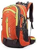 ナインスコード (9thCode) 6色タイプリュックサック 40L大容量防水仕様登山バッグ オレンジ 幅47×奥行32×高さ22cm