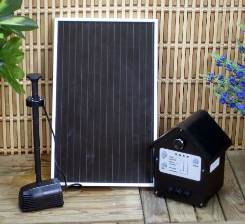3 Watt Solar Powered, Garden, Outdoor Water Pump Kit With Battery & Led
