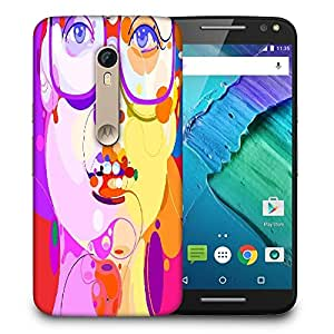 Snoogg Girl With Specks Designer Protective Back Case Cover For MOTO X STYLE