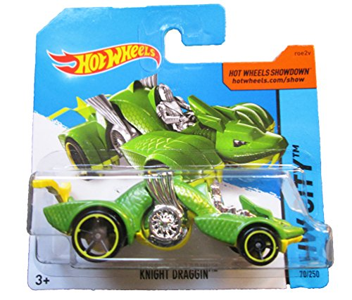 Hot Wheels - 2014 HW City 70/250 - Knight Draggin' on Short Card - 1