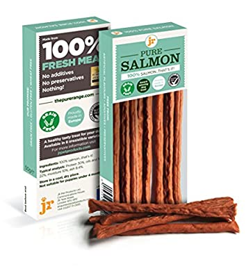 Pure Dried 100% Fresh Meat Dog Treat Gluten Free 50g - SALMON