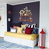 "WallDesign ""Animal Carnival"" Colour Matte Vinyl Stickers (91.44 X 91.44 CM)"