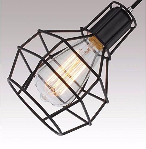 GS~LY retrò minimalista 15*22cm coop. lampadario,nero