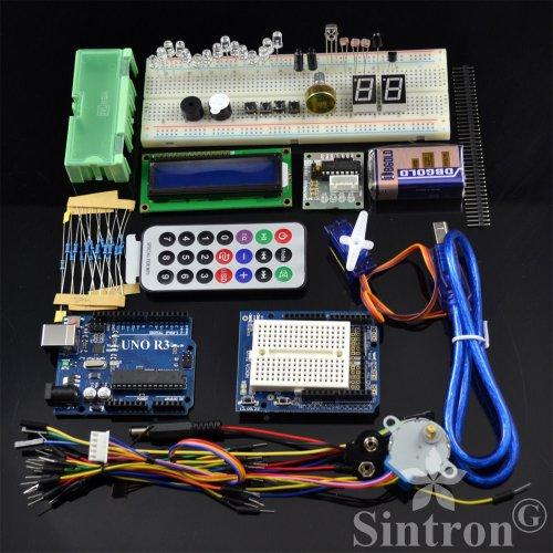 [Sintron] Arduino Uno R3 Board Starter Kit with LCD Servo Motor Sensor Module !!