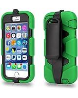 Coque Survivor Ultra résistante Antichoc Housse pour iPhone 5 5S Avec Clip Ceinture - Vert