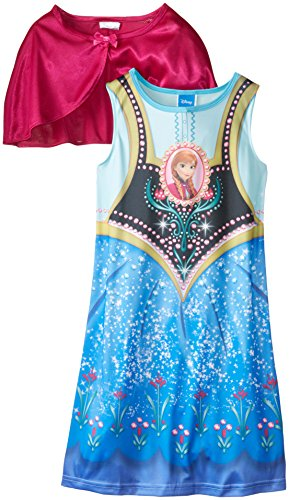 Disney Big Girls' FROZEN Anna Dress-Up Nightgown with Cape