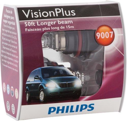 Philips 9007 VisionPlus Headlight Bulb, Pack of 2