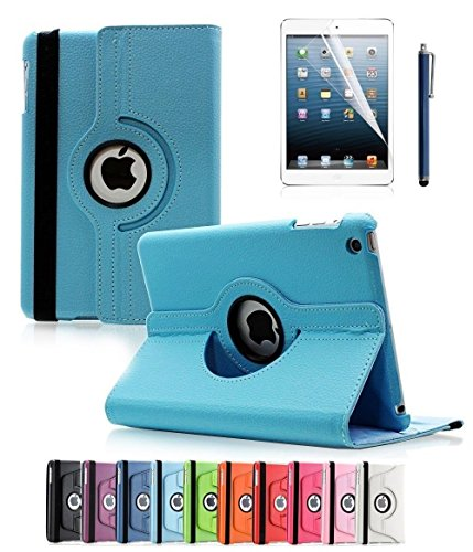 Apple iPad 2/3/4 Case, CINEYO(TM) 360 Degree Rotating Stand Case Cover with Auto Sleep / Wake Feature for iPad 2/3/4(10 Colors)this case is for Apple iPad 2 3 4 (Light Blue) (Ipad Blue Case compare prices)