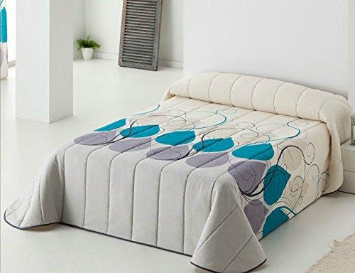 DECOARTESANAL-Colcha bouti Nantes para cama 105cm,color lila