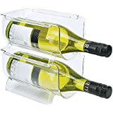 Implemento Set of 2 Refrigerator or Cabinet Stackable Wine Bottle Racks Bins