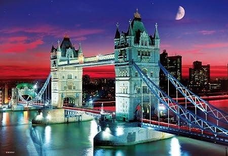 1000マイクロピース タワー・ブリッジ~夕暮れに輝く跳ね橋~ M81-843