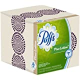 Puffs Plus Lotion Facial Tissues; 1344 Count; 24 Cube Boxes (56 Tissues Per Box) (Pack of 24)