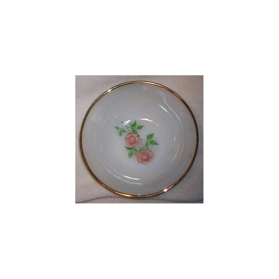 Fire King Anchor Hocking Anniversary Rose White Fruit/dessert Bowl