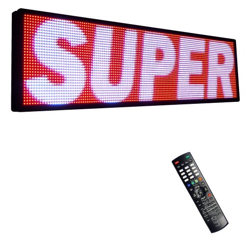 """Led Super Store Signs 3 Color (Rwp) 28"""" X 115"""" - Programmable Scrolling Display, Storefront Message Board - Industrial Grade Business Tools, Emc"""