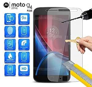 Knight Motorola Moto G4 (4th Generation)Premium Tempered Glass Screen Guard Protector (ANTI SHATTER, Curved Edge)