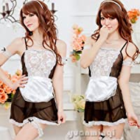 Womens Maid Costume Uniform Lace Sexy Lingerie BabyDoll Cosplay Dresses G-string by Generic
