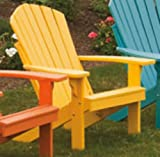 POLY Folding & Reclining Adirondack Chair - Amish Made USA - Lemon Yellow