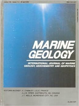 marine geology international journal  marine geology geochemistry  geophysics april