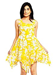 Yellow Color Printed Dress