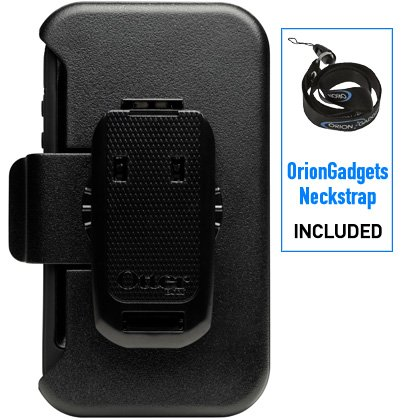 Oriongadgets Defender Case Replacement Belt Clip For Apple Iphone 4 Black Includes Oriongadgets Neckstrap