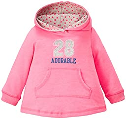 Carter\'s Baby Girls\' Hooded Knit Tunic - Hot Pink - 12 Months