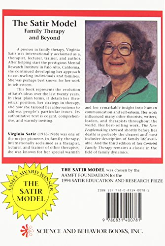 virginia satir and her family therapy models Virginia satir (1916-1988) was a pioneer in family systems therapy and an inspiration to generations of family therapists the satir model helps people rediscover their essential value through exercises that.