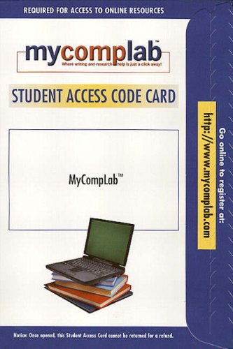 MyCompLab 1.0 Website Student Access Card