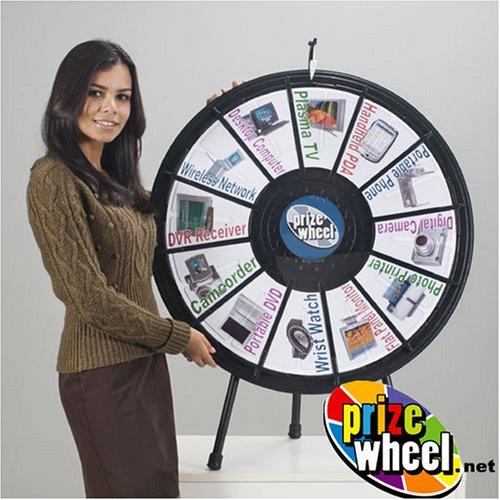 Black Tabletop Prize Wheel - Clicker Style