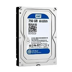 WD Blue 750 GB Desktop Hard Drive: 3.5 Inch, 7200 RPM, SATA III, 64 MB Cache - WD7500AZEX