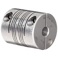 Ruland FCMR Clamping Beam Coupling, Polished Aluminum, Metric