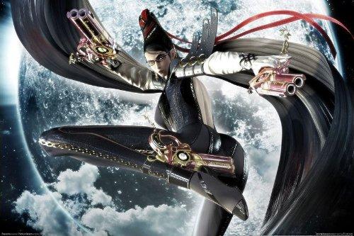 Bayonetta 2 Nice Silk Fabric Cloth Wall Poster Print (20X13Inch)