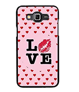 Fuson Love Heart Pattern Back Case Cover for SAMSUNG GALAXY GRAND 3 - D3954
