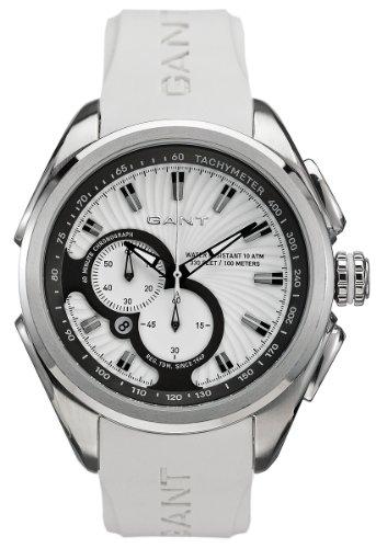 GANT Milford W10585 - Reloj de caballero de cuarzo, correa de goma color blanco