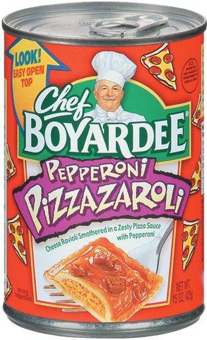 chef boyardee s pepperoni pizzazaroli retro junk