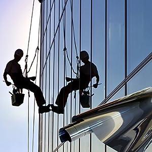 Fenster Spiegelfolie 2.000 x 152cm Silber Tönungsfolie Sonnenschutz Fensterfolie Spion Folie  Kundenbewertung und Beschreibung