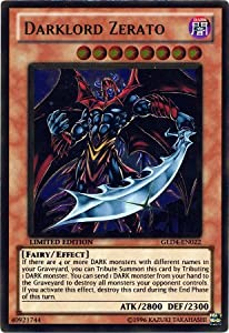 YuGiOh Gold Series 4 Single Card Darklord Zerato GLD4-EN022 Gold Rare