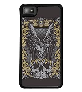Fuson Premium 2D Back Case Cover Eagle With Black Background Degined For Blackberry Z10