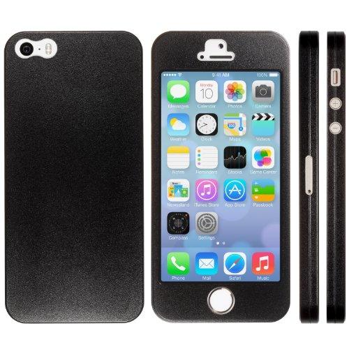 NanoSkin ナノスキン iPhone5s/5 フルカバーケース全17色 ブラック (TouchID対応)