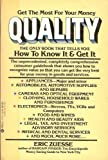 img - for Quality: How to Know book / textbook / text book