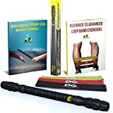 Muscle Roller Stick - 3 FREE Resistance Bands - 2 EBOOKS - from Physix Gear Sport - Easier than a Foam Roller - Top Roller Sticks - Reduce Lactic Acid, Fibromyalgia Relief, Myofascial Release, Shin Splints, Plantar Fasciitis, Pressure Points Treatment, Sore Muscles, Trigger Point Roller, Knots, and More! ORDER NOW!