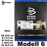 Original Silcone Power Balance Bracelet also for Everyday Life or Athletes Sportsman/woman in XS S M L XL, size:XL;Modell:Modell 6