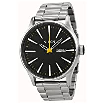 Nixon The Sentry Black Dial Stainless Steel Mens Watch A356-1227