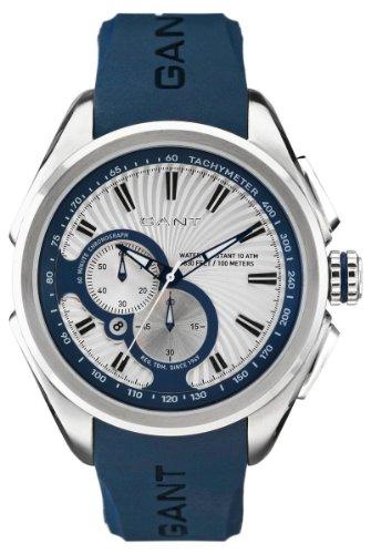 Gant Watches - Reloj analógico de cuarzo para hombre con correa de caucho, color azul