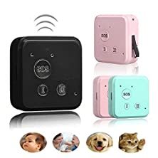 buy Voberry® Smallest Smart Gps Tracker Long Standby Time Sos Dual Talk Platform (Black)